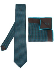 Brioni Tie Square Set Brown