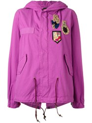 Mr And Mrs Italy Multi Patch Parka Pink Purple