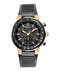 Salvatore Ferragamo F 80 Titanium Chronograph Watch Men's Black