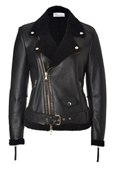 Red Valentino Shearling Biker Jacket