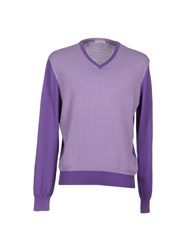 Gran Sasso Knitwear Jumpers Men Purple