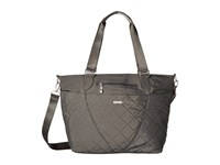 Baggallini Quilted Avenue Tote With Rfid Wristlet Pewter Quilt Tote Handbags Gray