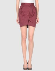 Paul And Joe Sister Skirts Mini Skirts Women Maroon