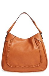 Sole Society Rema Faux Leather Shoulder Bag Brown Cognac