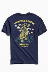 Insight Unfinished Business Tee Navy