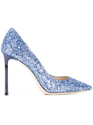 Jimmy Choo Glitter Stiletto Heels Blue