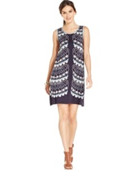 Studio M Scallop Print Shift Dress