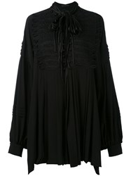 Ermanno Scervino Frogging Detail Oversized Blouse Women Silk 40 Black