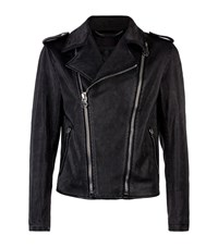 Philipp Plein Andreas Perforated Leather Biker Jacket Male Black
