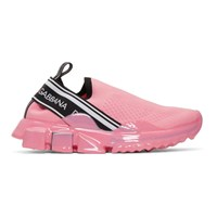 Dolce And Gabbana Pink Mesh Sorrento Melt Sneakers