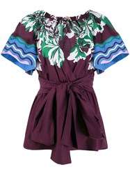 Emilio Pucci Shortsleeved Printed Blouse 60