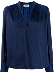 Zadig And Voltaire Tink Tunic Blouse Blue