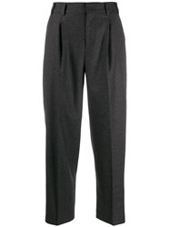 Pt01 Cropped Tailored Trousers Grey