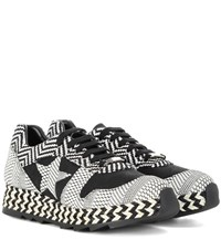 Stella Mccartney Mixed Print Macy Sneakers Black