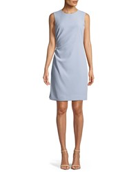 Milly Sherry Sleeveless Ruched Mini Dress Cloud
