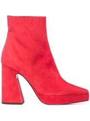 Proenza Schouler Platform Ankle Boots Red