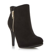 Linea Oceana Side Zip Dressy Ankle Boots Black