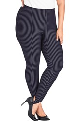 City Chic Plus Size Simply Tailored Stirrup Pants Navy