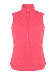 Joules Quilted Gilet Pink
