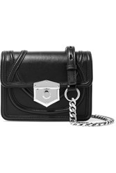 Alexander Mcqueen Wicca Leather Shoulder Bag Black