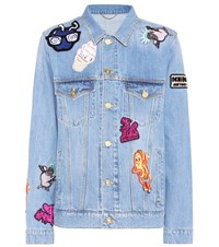 Kenzo Embellished Denim Jacket Blue