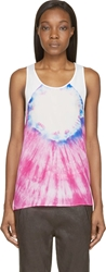 Cnc Costume National White Tie Dye Sleeveless Top