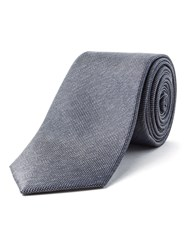Racing Green Stellar Semi Plain Silk Tie Charcoal
