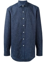 Salvatore Piccolo Printed Shirt Blue