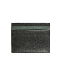 Armani Collezioni Black Safiano Leather Wallet With Contrasting Green Grained Leather Interior