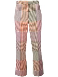 Rosie Assoulin Micro Check Cropped Trousers Brown