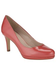 Phase Eight Amara Leather Court Shoes Coral