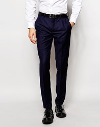 Vito Super Skinny Suit Trousers With Stretch Blue