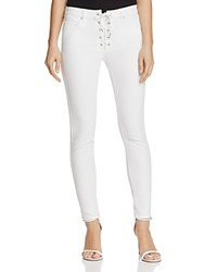 Blank Nyc Blanknyc Lace Up Skinny Jeans In White Lines 100 Exclusive