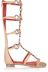 Schutz Embellished Leather Gladiator Sandals