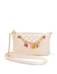 Betsey Johnson Give Me A B Quilted Bag White