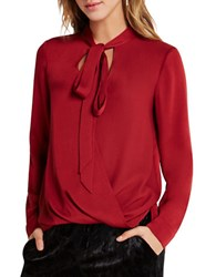 Bcbgeneration Long Sleeve Blouse Apple