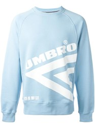 House Of Holland Umbro Diamond Print Sweatshirt Blue
