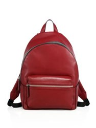 Uri Minkoff Leather Backpack Port Wine