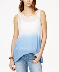 Amy Byer Bcx Juniors' Crochet Back Ombre Tunic Tank Top