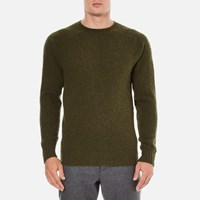 Ymc Men's Suedehead Brushed Jumper Loden Green