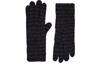Barneys New York Women's Striped Cashmere Blend Gloves Black