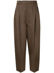 Haider Ackermann High Rise Tapered Trousers Brown