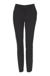 Topshop Tall Pinspot Cigarette Trouser Black