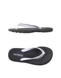 Bikkembergs Thong Sandals White