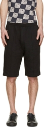 Raf Simons Black 'No No' Lounge Shorts
