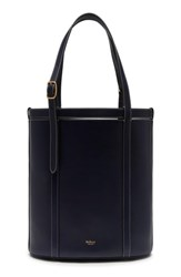 Mulberry Small Wilton Leather Bucket Bag Blue Midnight