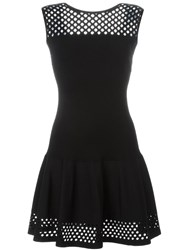 Fendi Mesh Panel Dress Black