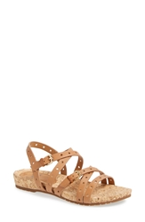 Sofft 'Malana' Leather Sandal Women Luggage