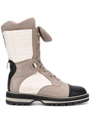 Chanel Vintage 2010'S Paneled Boots Neutrals
