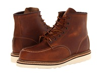 Red Wing Shoes 6 Moc Toe Copper Rough And Tough Men's Lace Up Boots Tan
